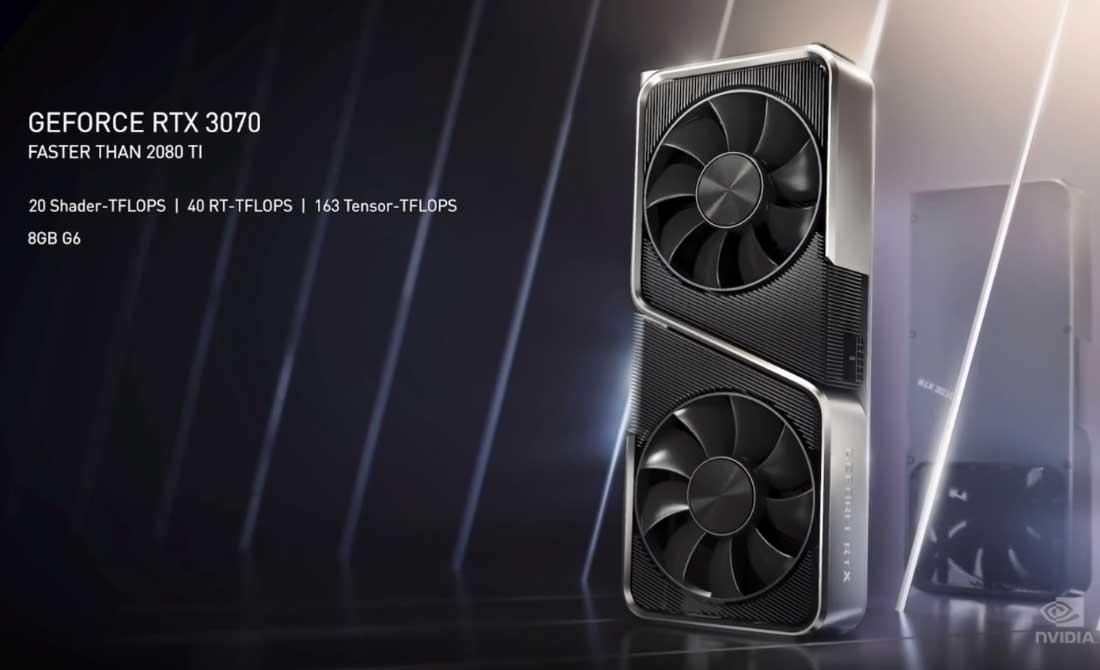GFORCE RTX 3070 detalle