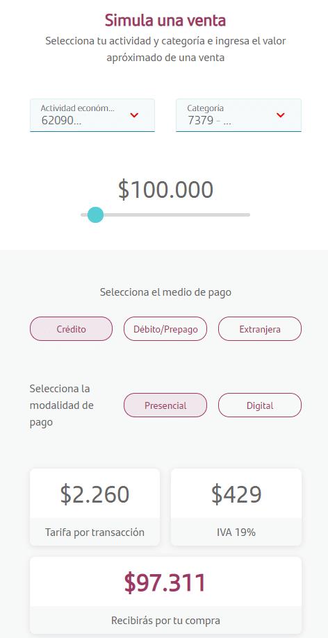 simulador de ventas getnet